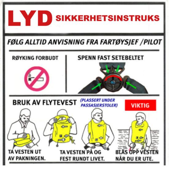 LYD SIKKERHETSINSTRUKS